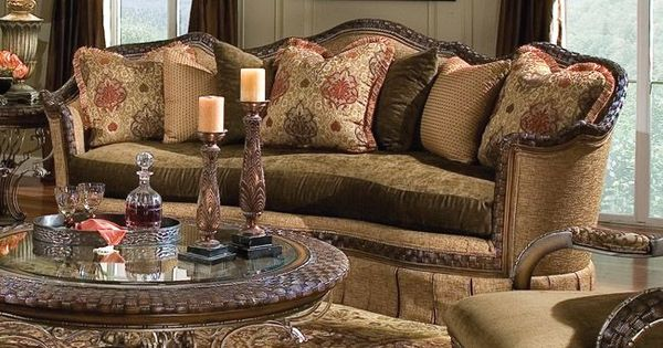 Old World Tuscan Sofa Furniture The Furniture Traditional 39 Corsican 39 Living Room Set With