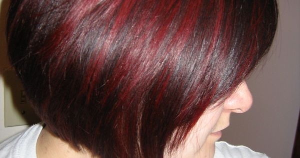 Dark Auburn Hair With Cherry Red Highlights Beautiful