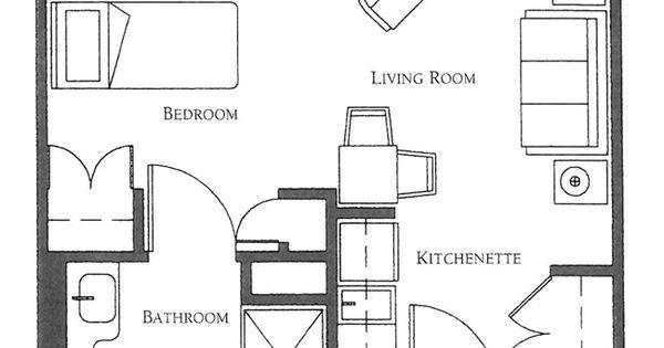 Studio Apartment Floor Plan Ideas: Senior Apartments Brighton, MA