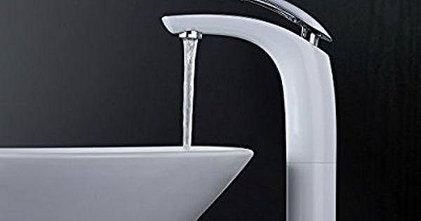 Homelody Wasserhahn Weiss Waschtischarmatur Einhebel Mischbatterie