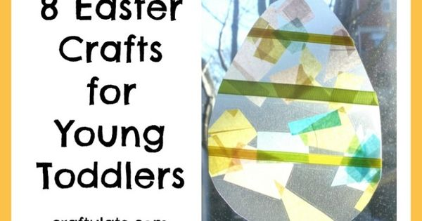 8 easter crafts for young toddlers vinyls hand prints for Easter craft ideas for young adults