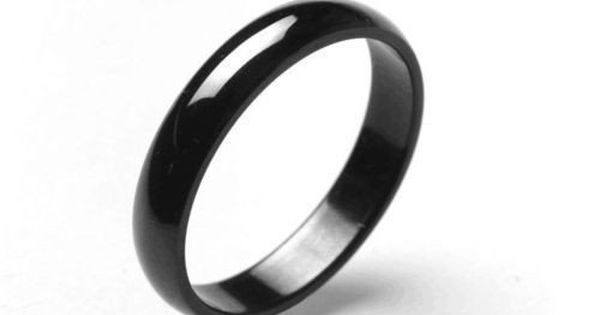 Natural Black Obsidian Ring Couple Black Ring Personalized Ring Unisex Ring