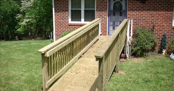 How To Build A Wheelchair Ramp Handicap Ramp Slope