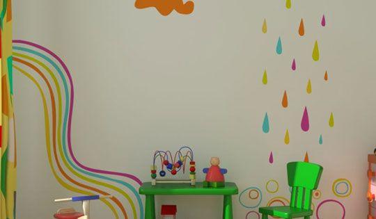 Paredes infantiles decoracion infantil y juvenil bebes - Decoracion paredes infantiles ...