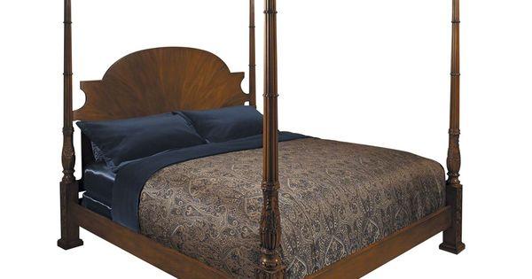 baker furniture stately homes queen chippendale four poster bed bedroom pinterest more. Black Bedroom Furniture Sets. Home Design Ideas