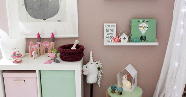 ganz s es m dchenzimmer in mint und rosa und vielen. Black Bedroom Furniture Sets. Home Design Ideas