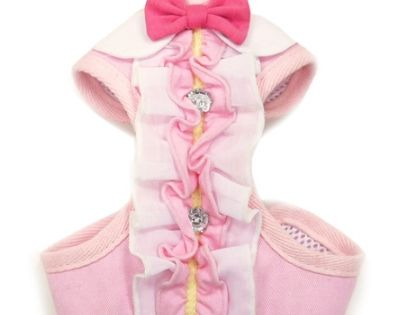 Easygo Ruffle All In One Dog Harness Vest Leash Dog Vest
