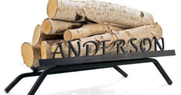 Personalized Fireplace Grate Grandin, Personalized Fireplace Grate