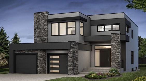Navelli New Single Family Home In Greater Edmonton Modern Small House Design House Front Design Modern House Facades