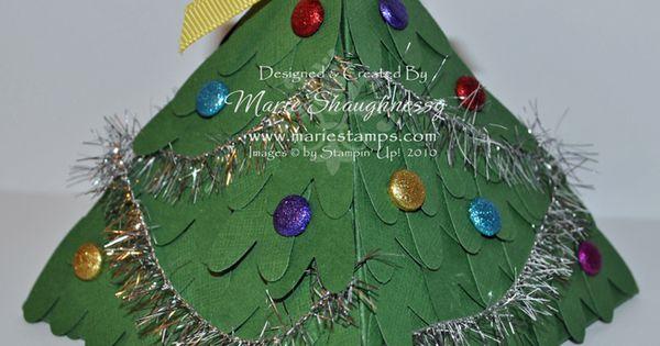 Christmas Tree Pyramid Explosion Box by MarieStamps.com ...