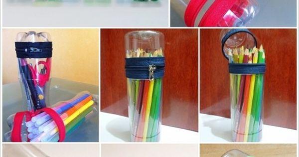 Plastic Bottle Storage Container Using Zip