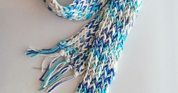 Loom Knitting Scarf Patterns For Beginners : Loom knit scarf for beginners easy diy scarves and