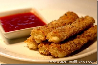 Healthy Appetizer or Snack: Crunchy String Cheese Dippers (Not that this is