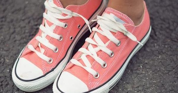 Coral Converse | Shoes, Converse, Me