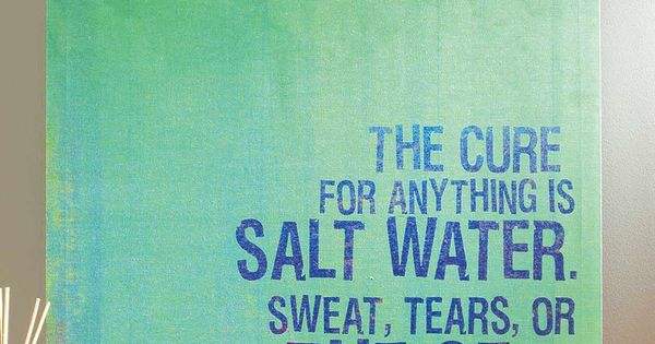 """"""" The Cure For Anything Is Salt"""