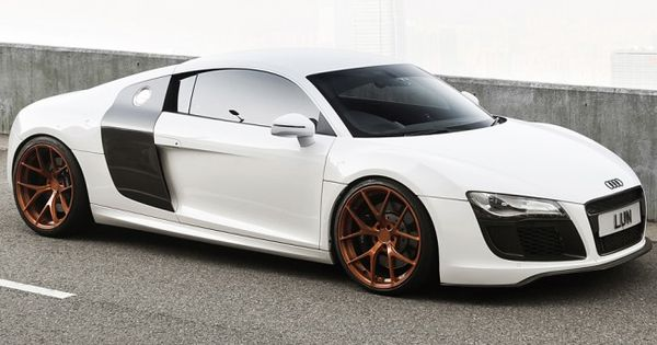 audi r8 on rose gold pur 4our van wheels pinterest audi r8 audi and wheels. Black Bedroom Furniture Sets. Home Design Ideas