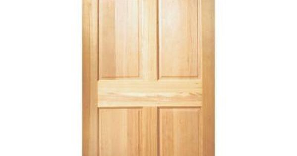 Masonite 30 In X 80 In 6 Panel Unfinished Fir Front Exterior Door Slab 22511 The Home Depot Wood Exterior Door Wood Front Doors Masonite Interior Doors