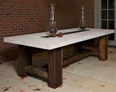 Barn Timber Stone Top Dining Table Board Projects