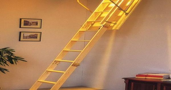 Retractable Stairs Design For Attic Would Love To Have This Retractable Stairway For