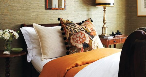 Textured wall and warm colors