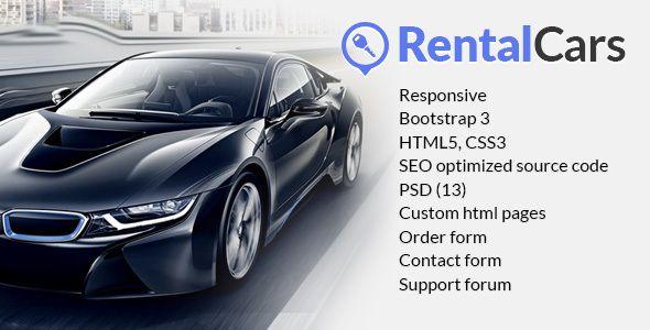 Rental Cars Car Rental Html Website Template Website Template
