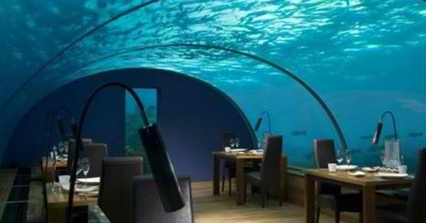 Underwater Restaurant, The Maldives Islands travel vacation europe mexico Caribbean southamerica australia