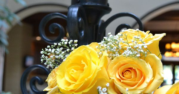 Yellow Roses Wedding Bouquet Embassy Suites Hotel