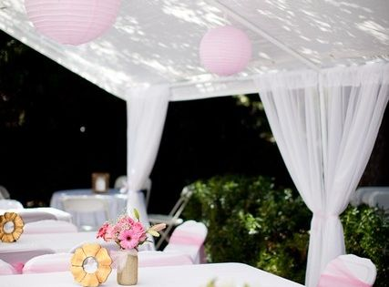Pink And White Baptism Party Ideas Baptism Party Reuse And Tents