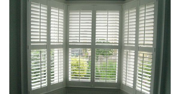 Bay window shutters for the home pinterest bays for 1930s bay window curtains