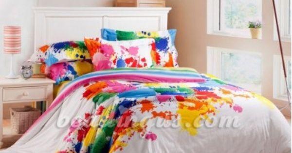 Paint Splatter Bedding Set Bedding Comforter Set