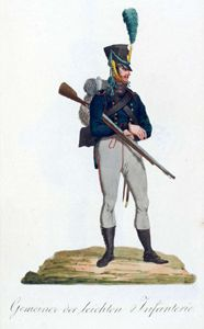 Soldier Light Infantry The Saxon Army In 1810 The Uniform