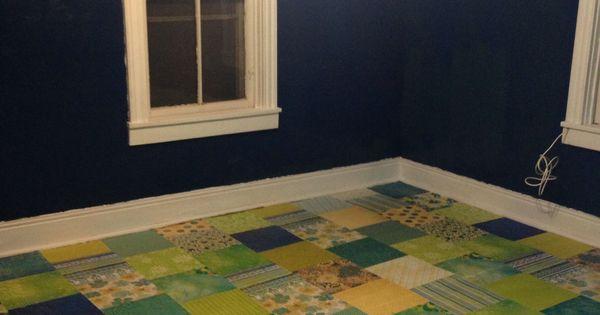 Scrapbook Paper Floor Over Wood Decoupage Ideas