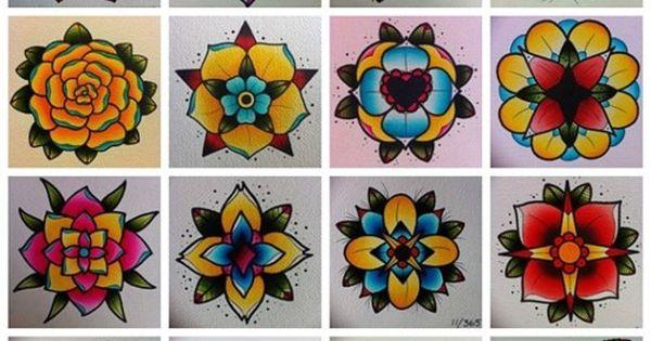 Tattoo flash - flowers