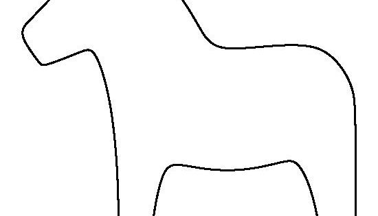 Dala Horse Pattern Use The Printable Outline For Crafts Creating
