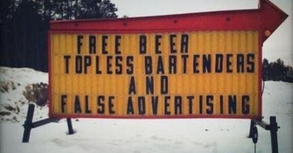 Free beer, Bartenders and Beer on Pinterest