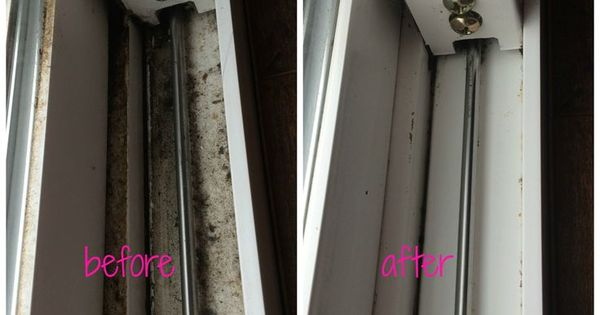 how to clean mold from window tracks