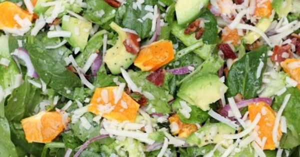 Spinach Salad with Chicken, Avocado and Goat Cheese #salad ...