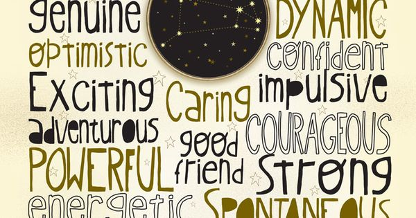 Zodiac sign Aries poster. For in depth info on Aries personality & characteristics go to www.buildingbeaut...