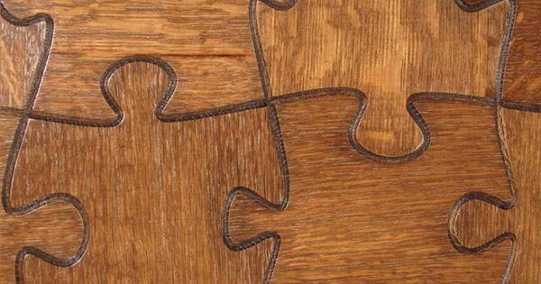 Jigsaw shaped flooring