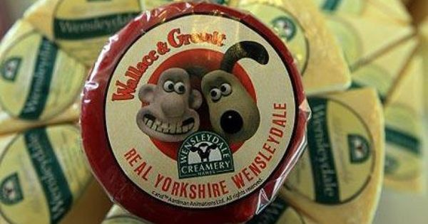 Wensleydale Cheese The Only Cheese For Wallace And Gromit Wensleydale Cheese Animated Man Man And Dog