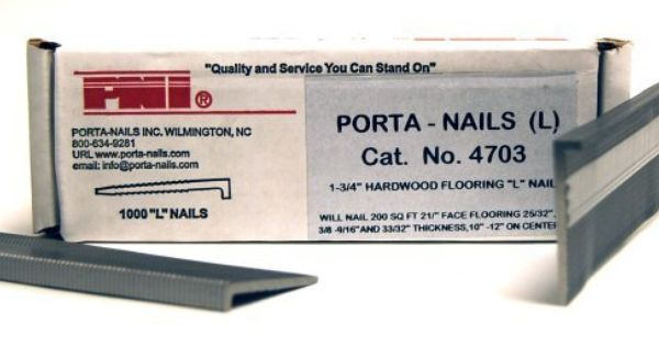 Porta Nails 4703 16 Gauge 1 3 4 Inch Flooring Nails 1 000 Per Box By Porta Nails 17 63 From The Manuf Pneumatic Nailers Tongue And Groove Nails And Screws