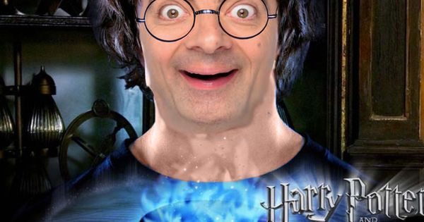 28 Creepy Photoshopped Pictures Of Mr Bean Harry Potter Goblet Harry Potter Movies Mr Bean Funny