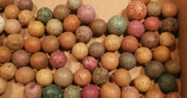 85 Civil War Era Bennington Clay Marbles Marbles