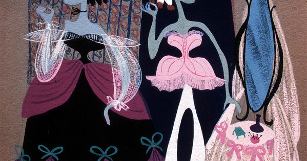 Mary blair the ugly step sisters cinderella contes et for Art conceptuel oeuvre