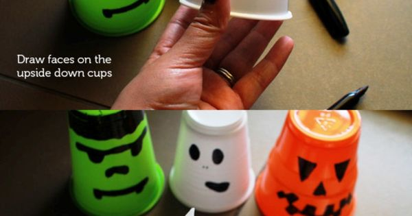 Fun Idea for the kids for Halloween... DIY Halloween Lanterns! Easy peasy