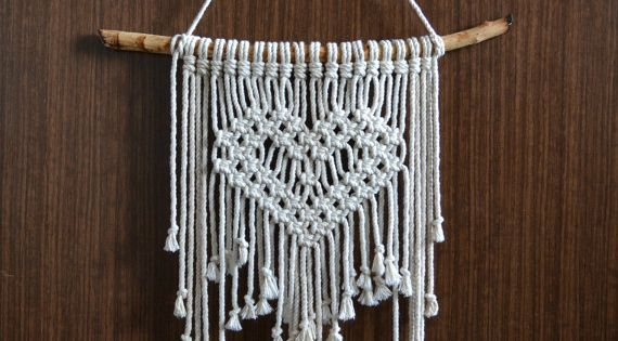 Macrame Wall Hanging Heart Macrame Macrame Wall Art