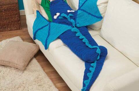 Herrschners 174 Dragon Blanket Crochet Afghan Kit Was 34 99