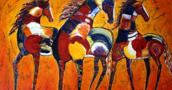 Gallery For Gt Modern Tribal Paintings Wonderful Wall Art