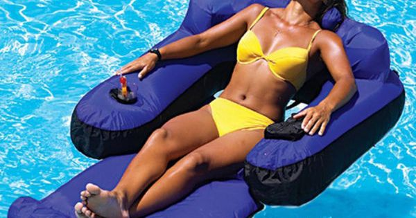Adult Swimming Pool Float Raft Lounge Chair Floating