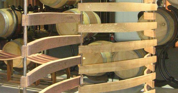 Room Divider Made From Reclaimed Wine Barrel Slats Milan